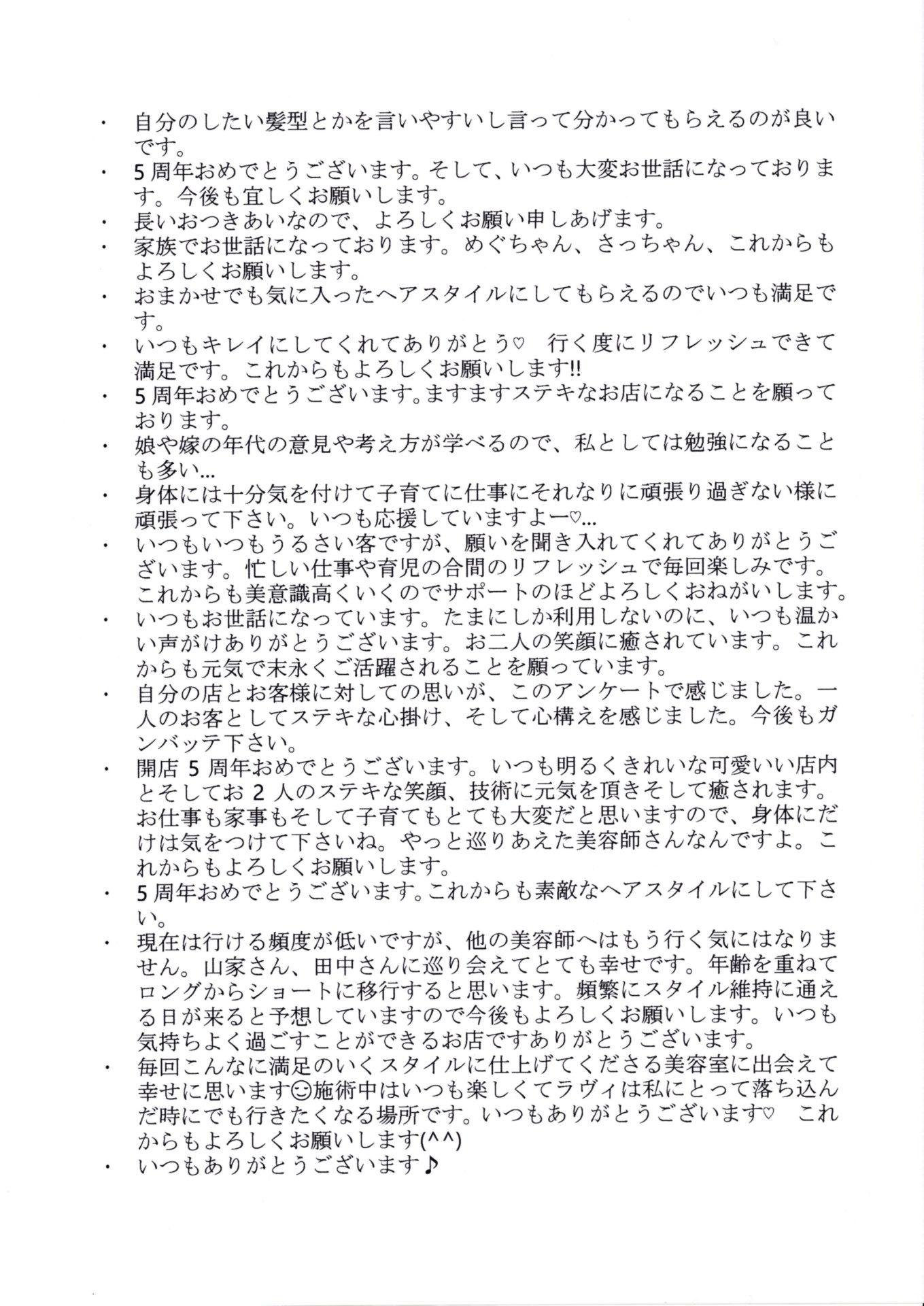 アンケート結果 最終号 2